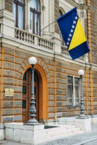 Gebäude in Sarajevo, Bosnien und Herzegowina