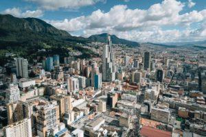 Blick auf Bogotá, Kolumbien
