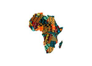 Umriss Kontinent Afrika